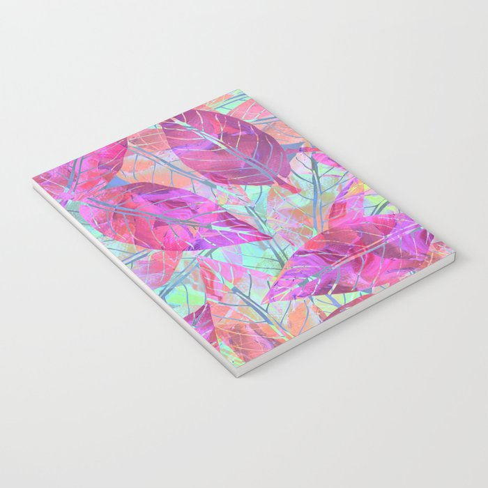 Pink Leaves Notebook