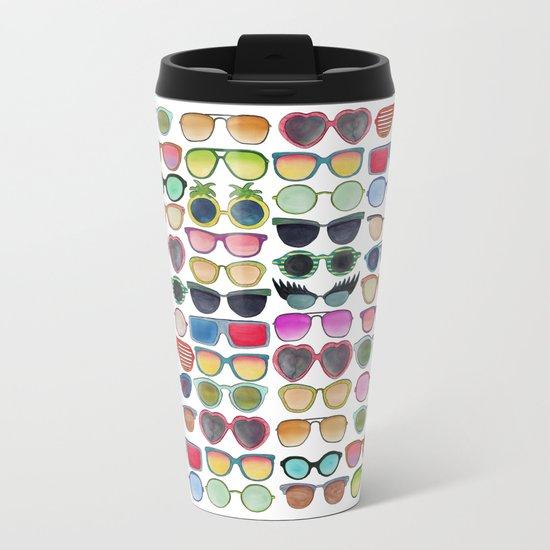 Sunglasses by Veronique de Jong Metal Travel Mug