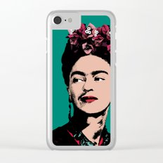 Frida Kahlo, Celebrity Portrait Clear iPhone Case