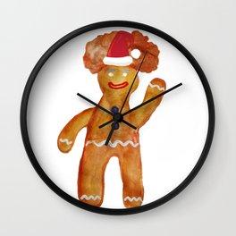 Santa Gingerbread Man Wall Clock