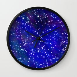 Stars in the Navy Blue Sky Wall Clock