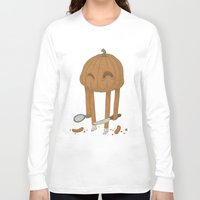 pumpkin Long Sleeve T-shirts featuring Pumpkin by Gabor Nemethi