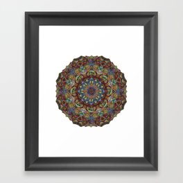 Hallucination Mandala 2 Framed Art Print