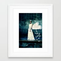 swan queen Framed Art Prints featuring Swan Queen by Sarah Emily