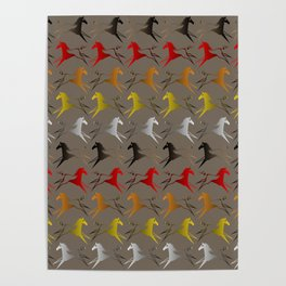 Native American War Horse Poster