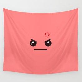 ANGRY! Kawaii Face (Check Out The Mugs!) Wall Tapestry