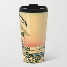 Japanese teahouse after the snow Travel Mug