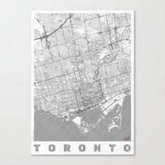Toronto Map Line Canvas Print