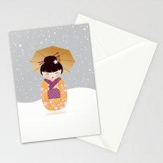SNOW-kokeshi Stationery Cards