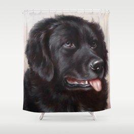 The Newfoundland Dog - Carl Reichert Shower Curtain