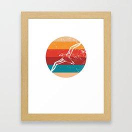 Vintage Albatross Lover Retro Seabird Silhouette Gift Framed Art Print