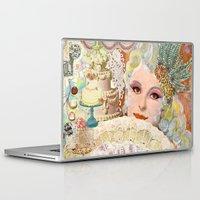 marie antoinette Laptop & iPad Skins featuring Marie Antoinette by Jenndalyn