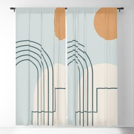 Geometric Abstract 104 Blackout Curtain