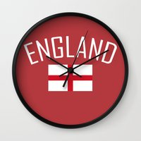 england Wall Clocks featuring England by Earl of Grey