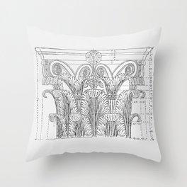 Corinthian column Throw Pillow