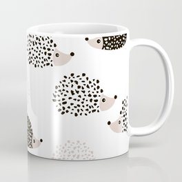 Hedgehog friends black and white spots Coffee Mug