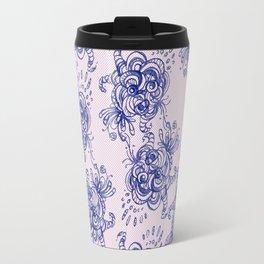 Gzhel lace Travel Mug