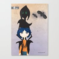 coraline Canvas Prints featuring Coraline by GroovyRoo