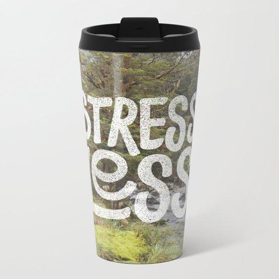 Stress Less Metal Travel Mug