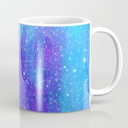 Space Ice Starfield Blue and Purple Coffee Mug