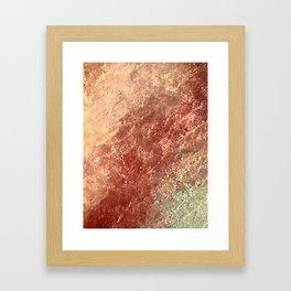 Crystallized Copper Trails Framed Art Print