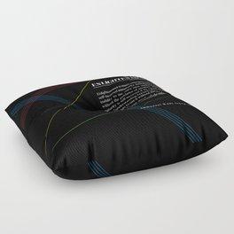 Philosophia I: What is Enlightenment? Floor Pillow