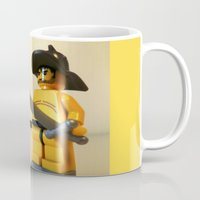 gladiator Mugs featuring SPARTACUS THE GLADIATOR CUSTOM LEGO MINIFIG by Chillee Wilson by Chillee Wilson [Customize My Minifig]