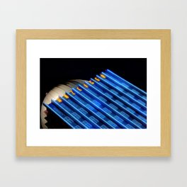 Anzeiger Building at Night Framed Art Print