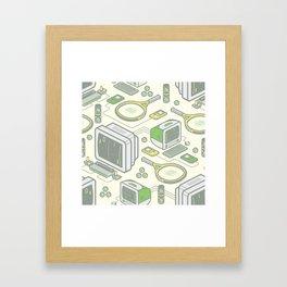 Virtual Tennis Framed Art Print