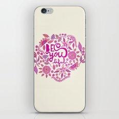 Be You-Tiful (pink edition) iPhone & iPod Skin