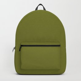 Mid Century Mod Olive Avocado Green Solid Colour  Backpack