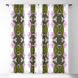 Pink Azalea Flowers with Spring Green Leaves Blackout Curtain