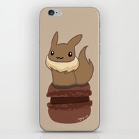 eevee iPhone & iPod Skins featuring Eevee Macaron by Mayying