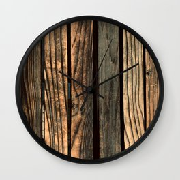 Urban Industrial Repurposed Wooden Planks Wall Clock