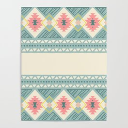 Colorful Geometric Boho Style 2 Poster