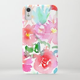 Blooming bouquet #2 || watercolor iPhone Case