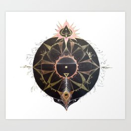 Saraswati Mandala White Art Print