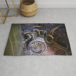 1920s Motorcycles Rug