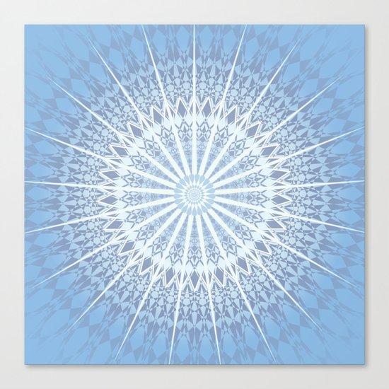 Blue Mandala 2 Canvas Print