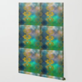 Gold lace decoration Wallpaper