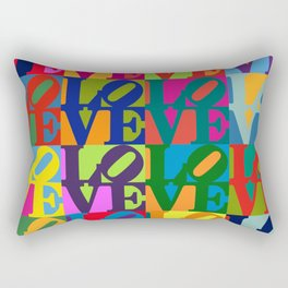 Love Pop Art Rectangular Pillow