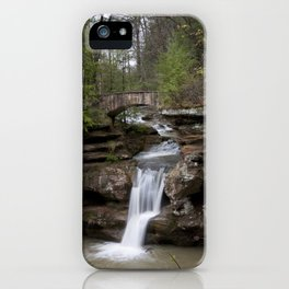 Waterfall at Old Man's Cave iPhone Case