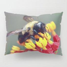 Bee on Milkweed Pillow Sham