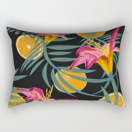 Plants Flowers and Your Orange Fruit Rectangular Pillow