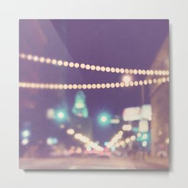 Downtown Los Angeles at night photograph. Sparkle No. 2 Metal Print