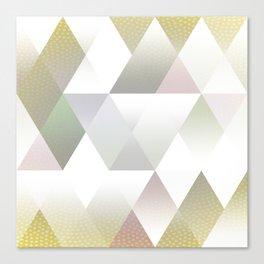 Silver Triangels N.1 Canvas Print