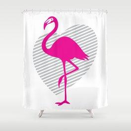 love flamingos Shower Curtain
