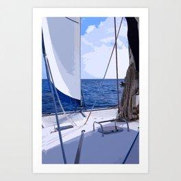 Sailing Winds - Sailing the Caribbean Art Print