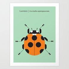 Lady Bug Green Art Print