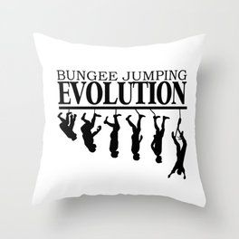 Bungee Jumping Evolution Throw Pillow